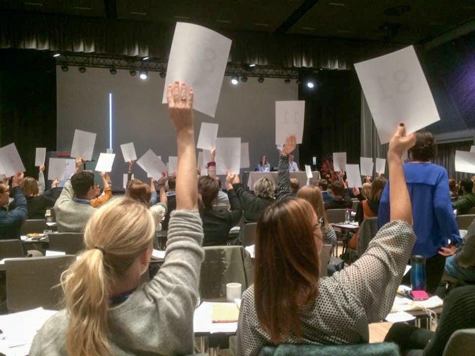 Et stort flertall stemte for reetablering av eldrepsykologi som spesialitet på Norsk psykologforenings landsmøte 2016.