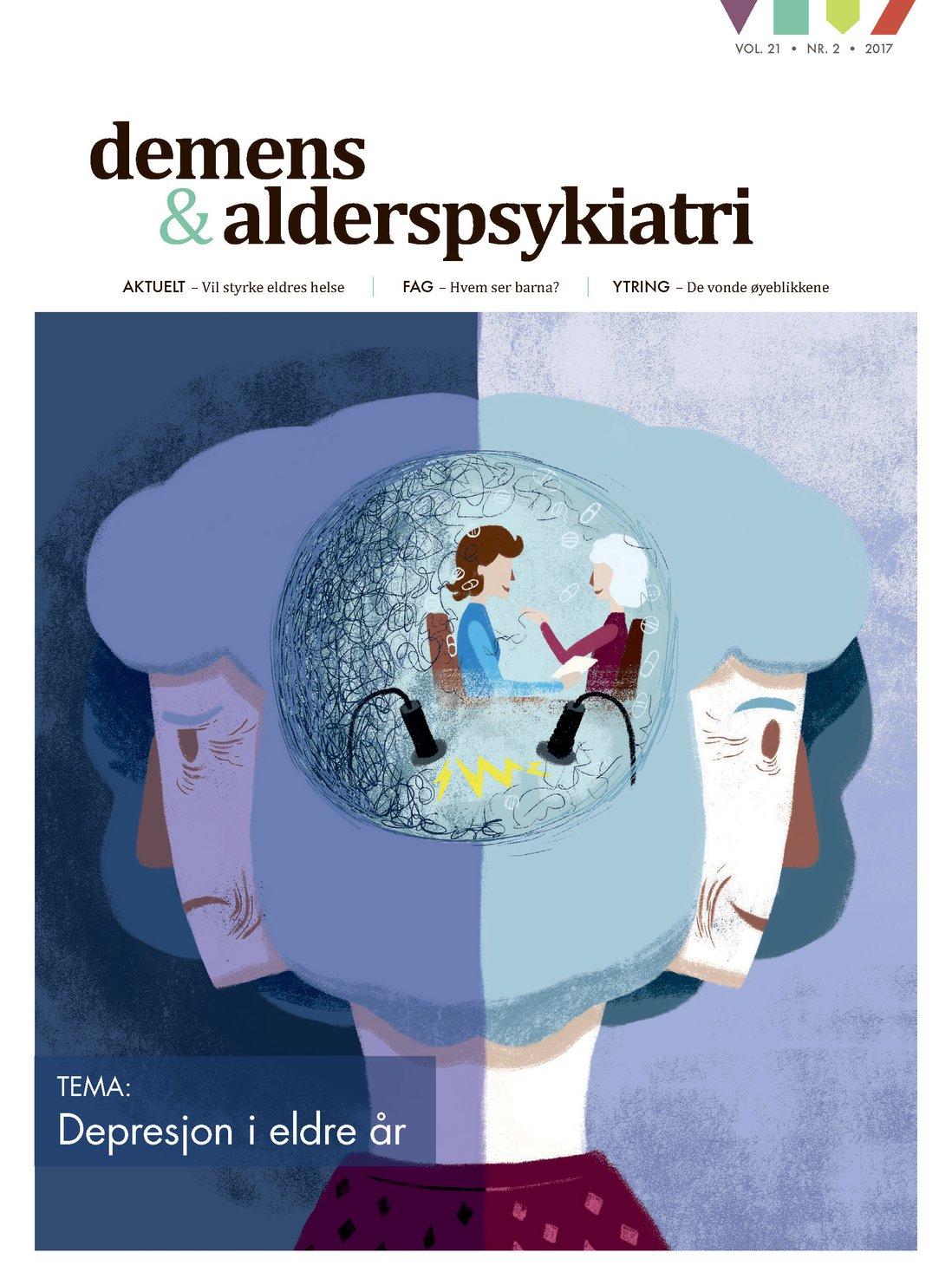 Forsiden av Demens & Alderspsykiatri 2017-2