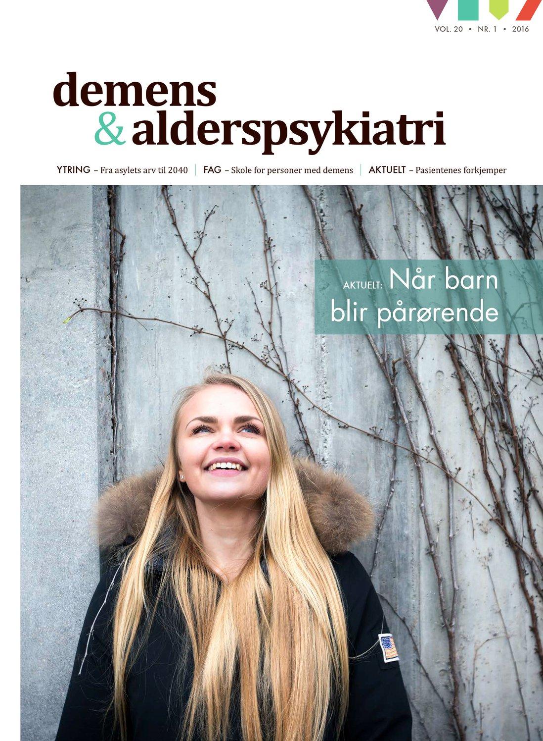 Forsiden av Demens & Alderspsykiatri 2016-1