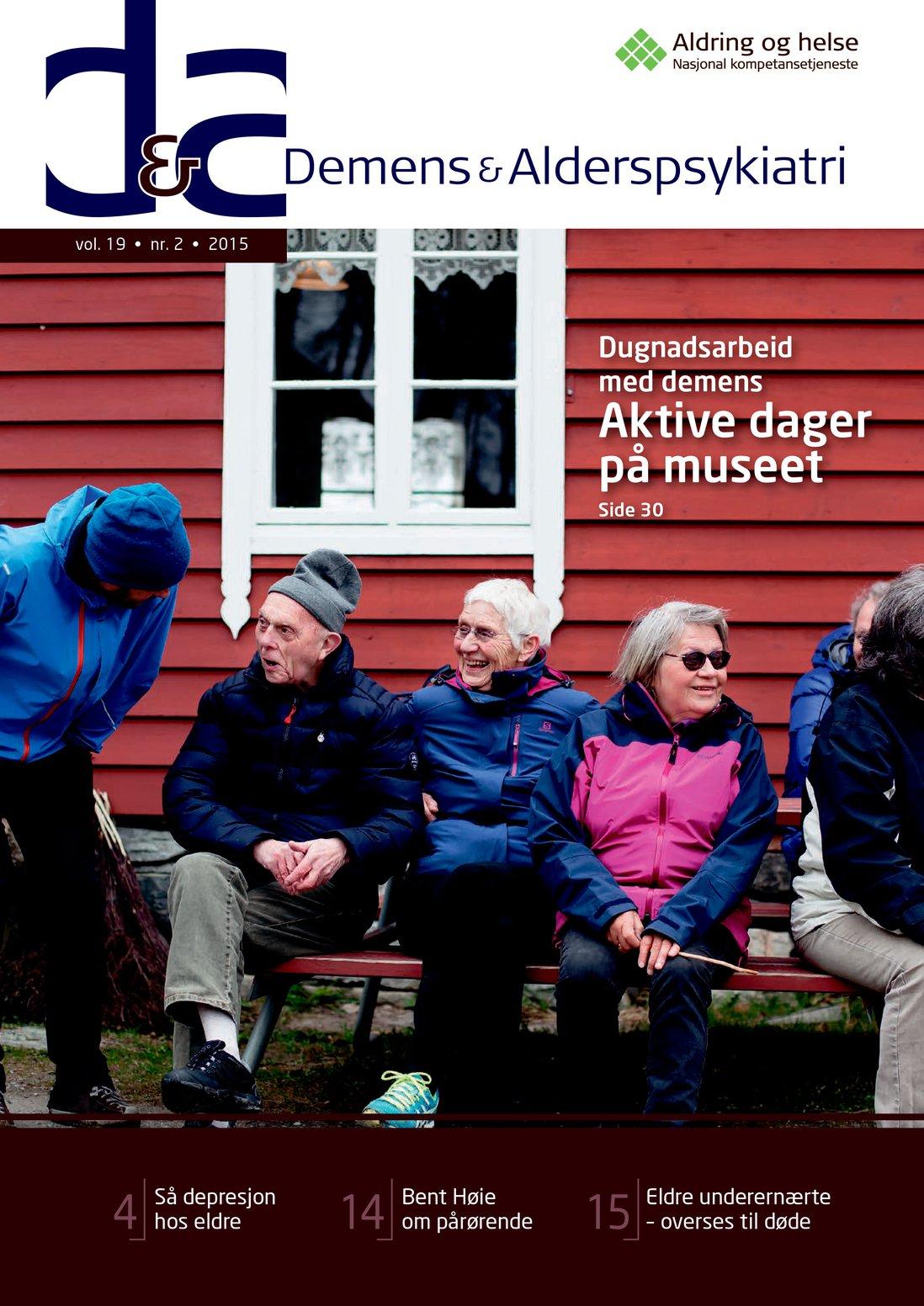Forsiden av Demens & Alderspsykiatri 2015-2