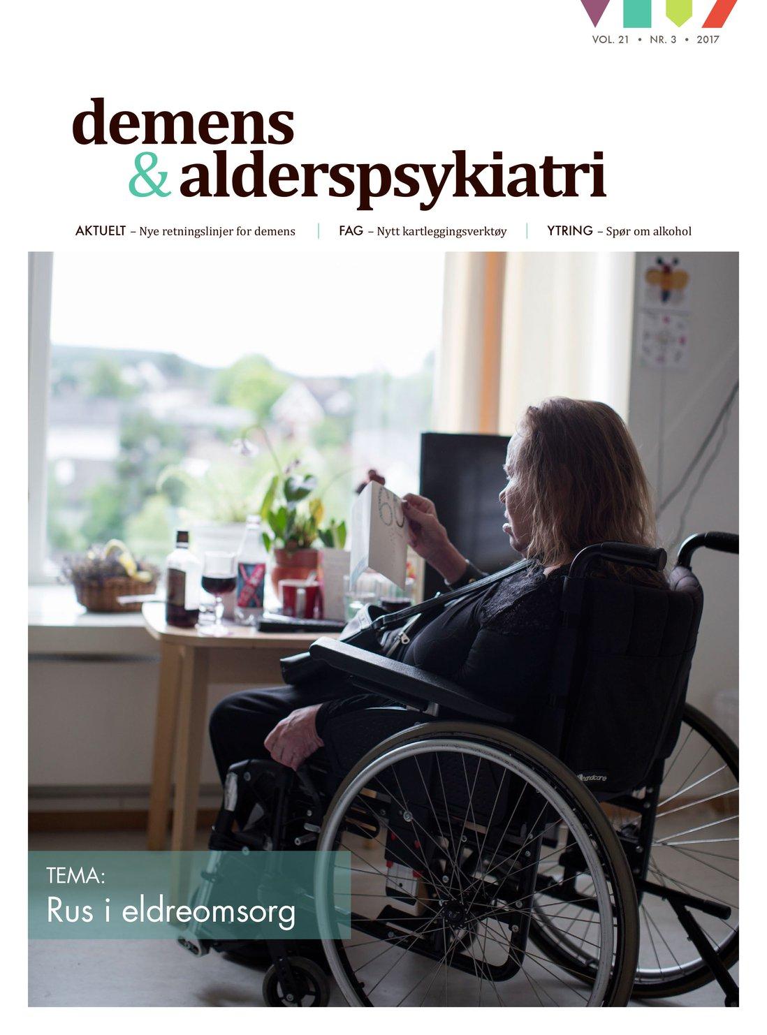 Forsiden av Demens & alderspsykiatri 2017-3