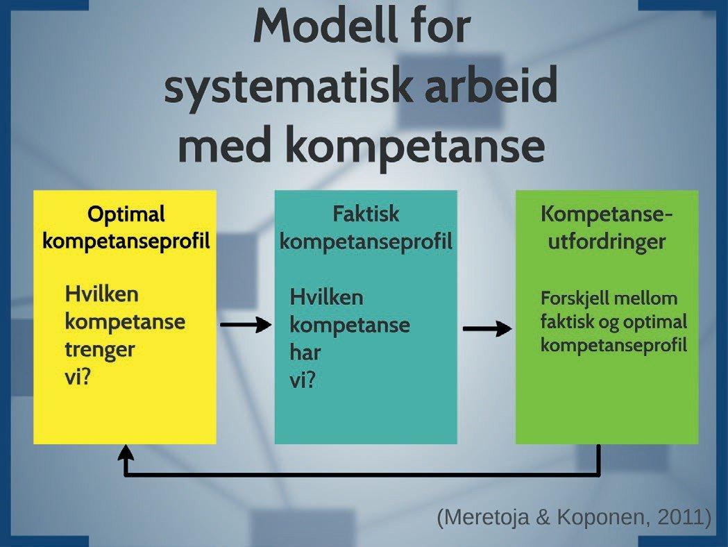 Modell for systematisk arbeid med kompetanse, illustrasjon til fagartikkel