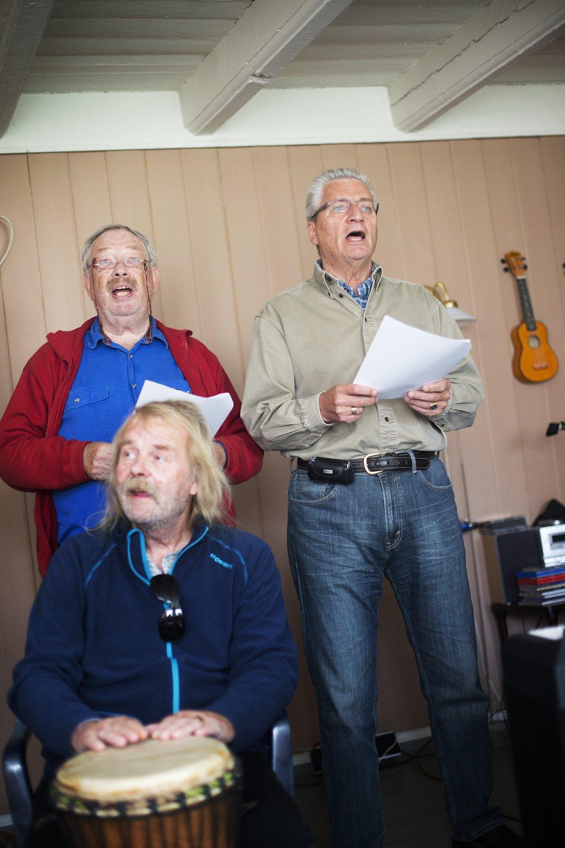 TREKLANG: Karl-Olaf, Birger og Trond.