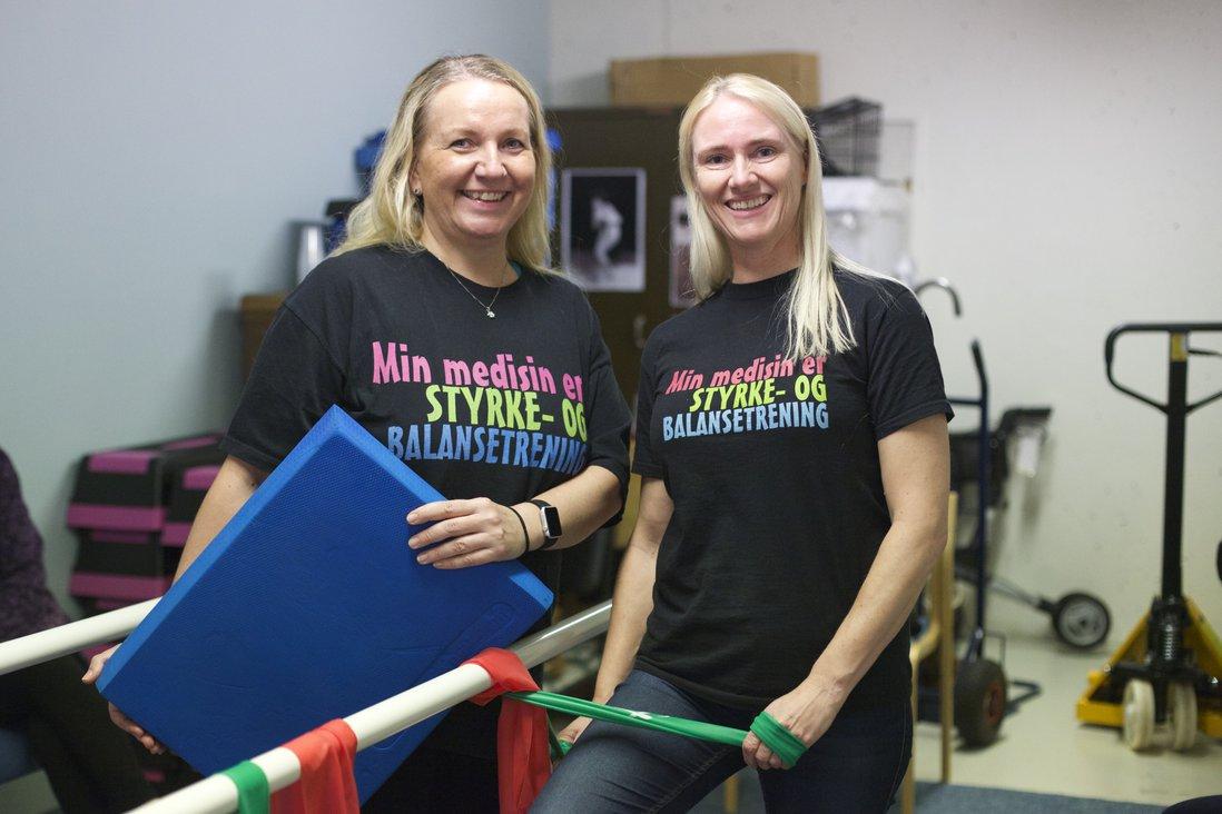 Fysioterapeutene Hanne Beck Pedersen og Åse Bergheim.