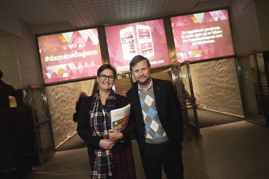 Bent Høie og Kari MIdtbø Kristiansen på Demensdagene 2015