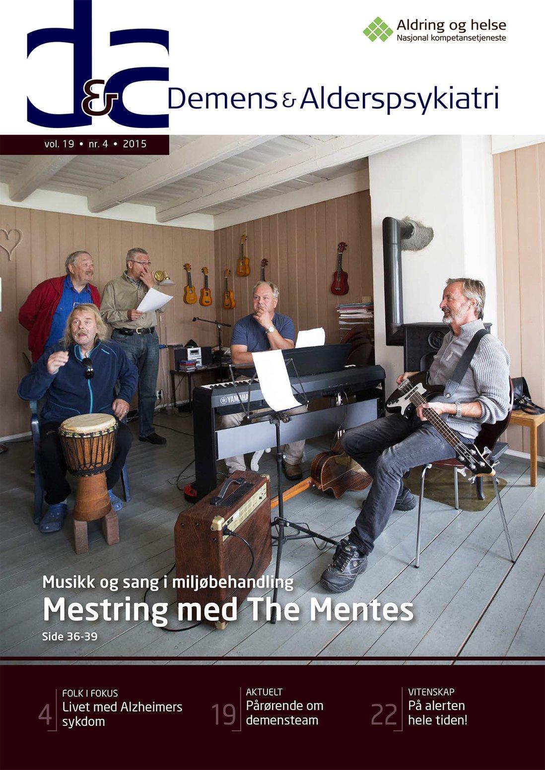 Forsiden av Demens & Alderspsykiatri 2015-4