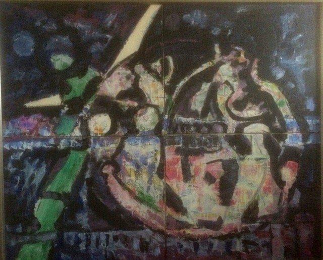 «Det siste», akryl på fire lerret, Roar Gulbrandsen