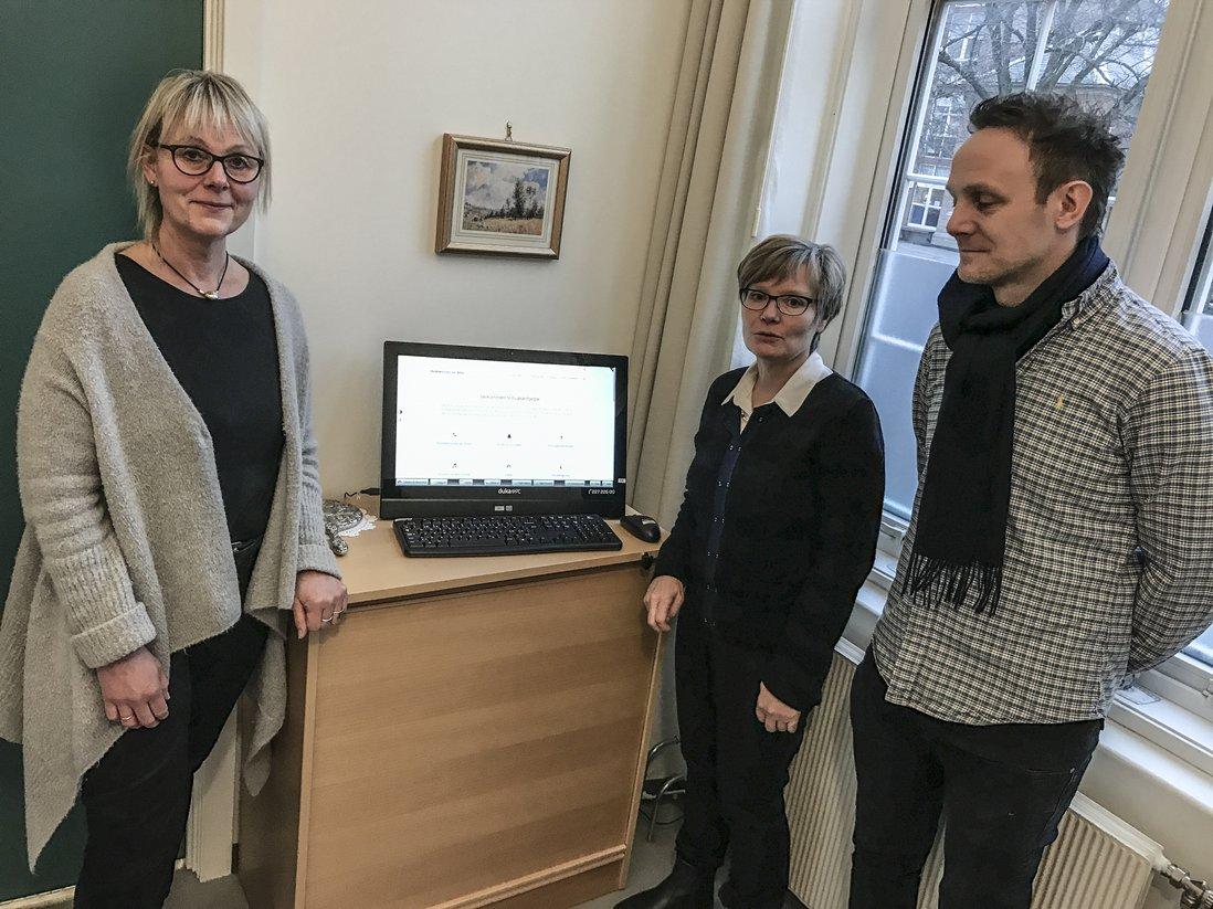 Ellen Andersen, Sigrid Aketun og Jeppe Skjønberg