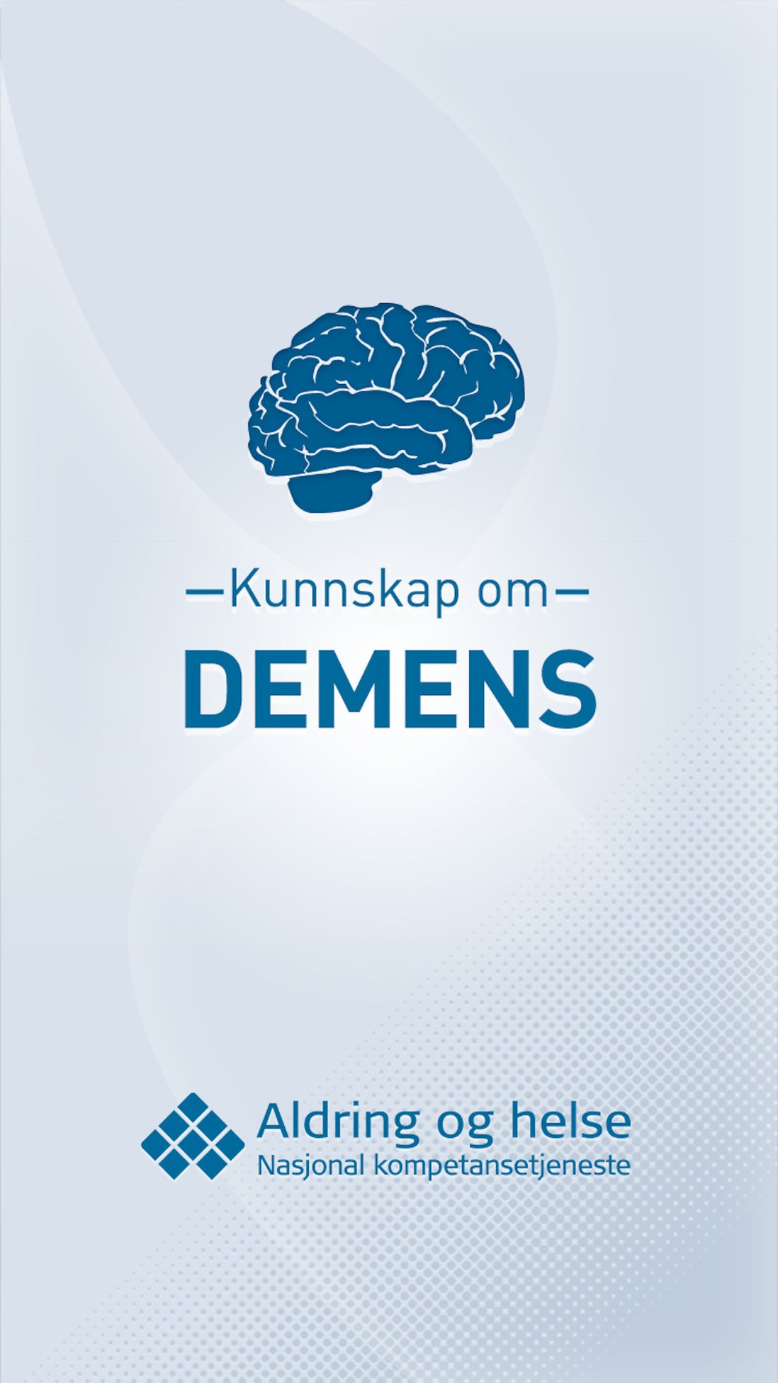 Kunnskap om demens-app skjermbilde