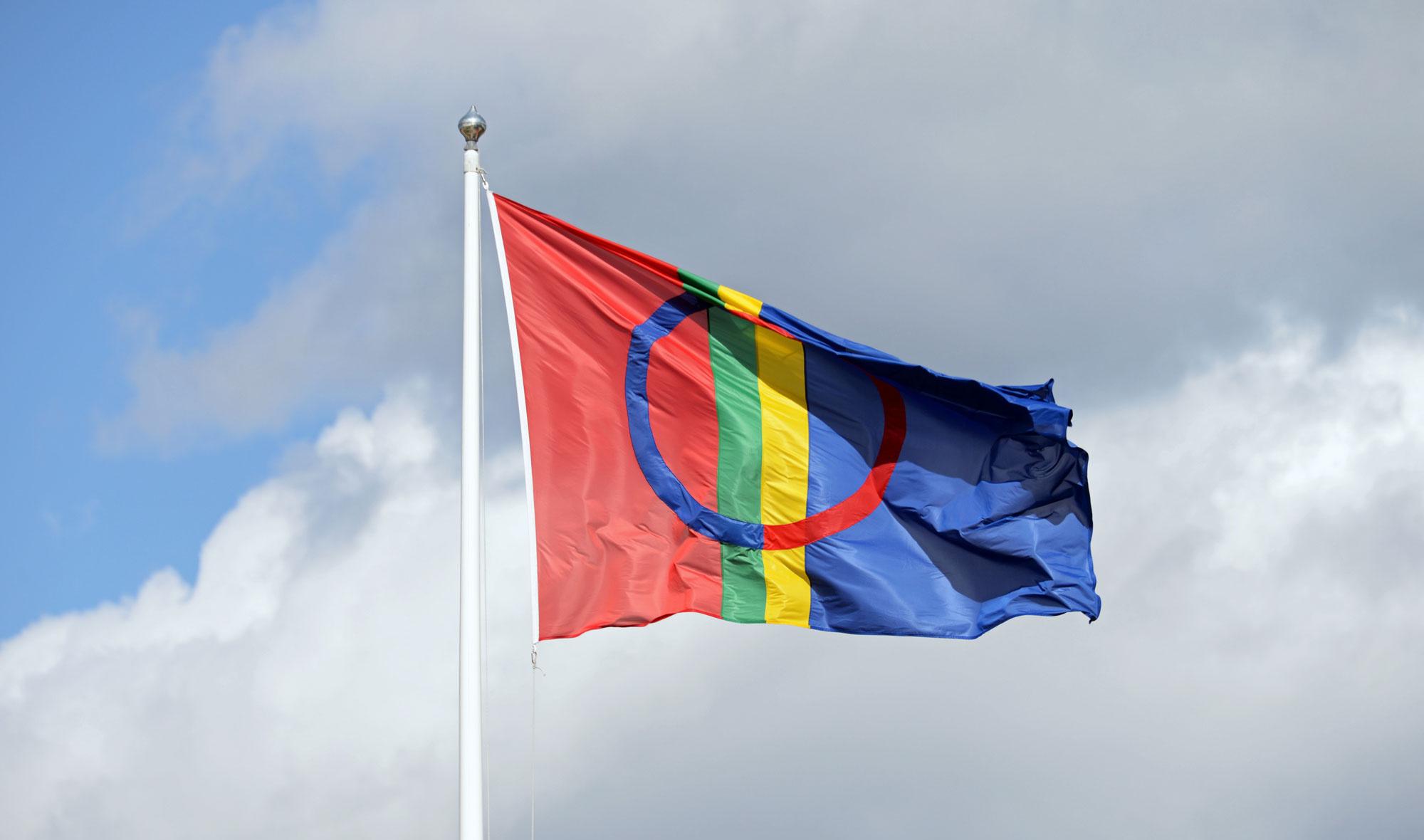 Samisk flagg. Foto