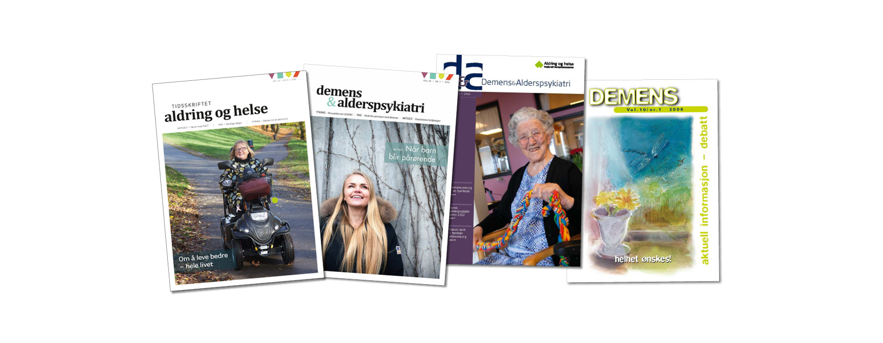 Flere utgaver av tidsskriftet samlet. Foto