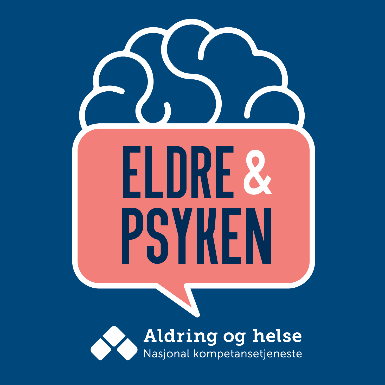 Logo podkast Eldre og psyken. Grafisk element