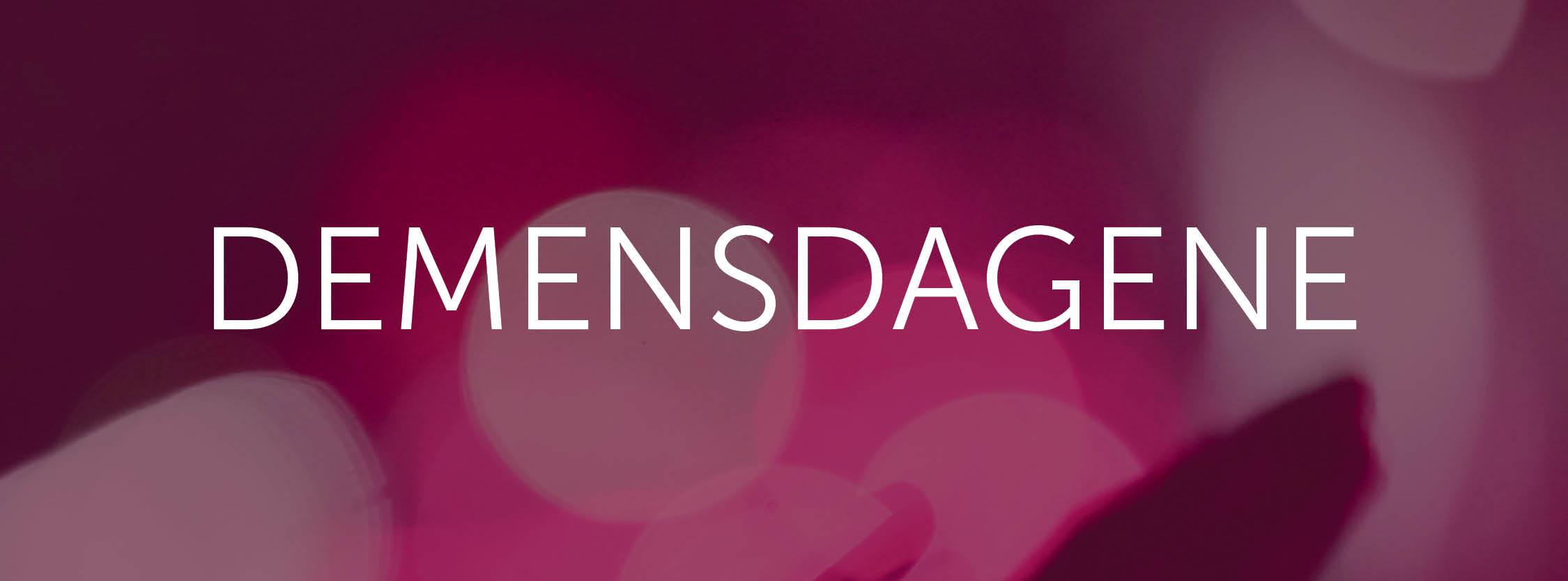 Banner Demensdagene