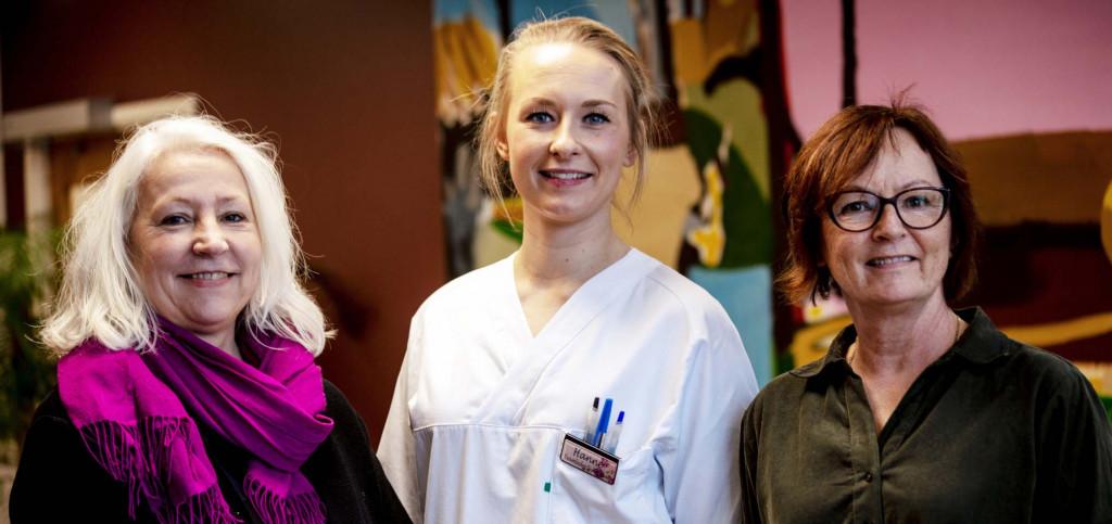 På bildet ser vi fra v.: Rita Marit Sletteng Andersen, Hanne Gunnestad og Anne Karine Lindaas